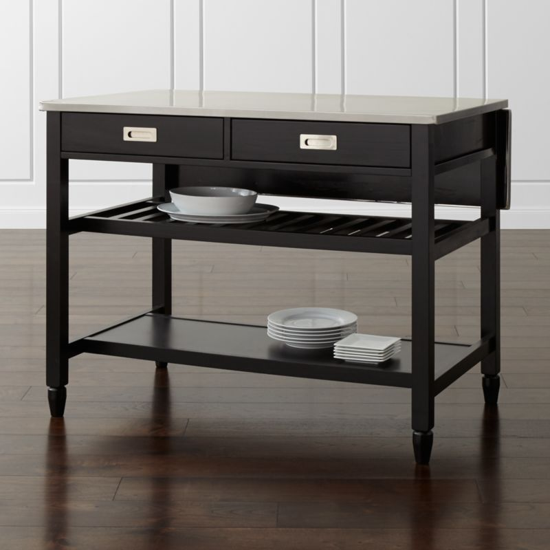 Belmont Black Kitchen Island Crate and Barrel