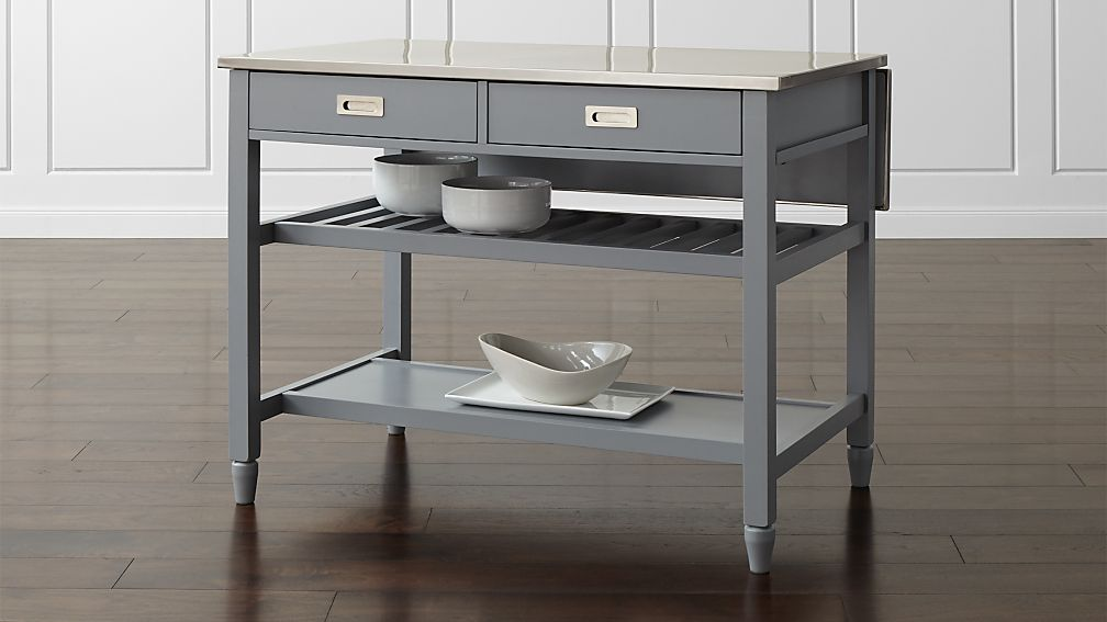 Sheridan Grey Kitchen Island Reviews Crate And Barrel