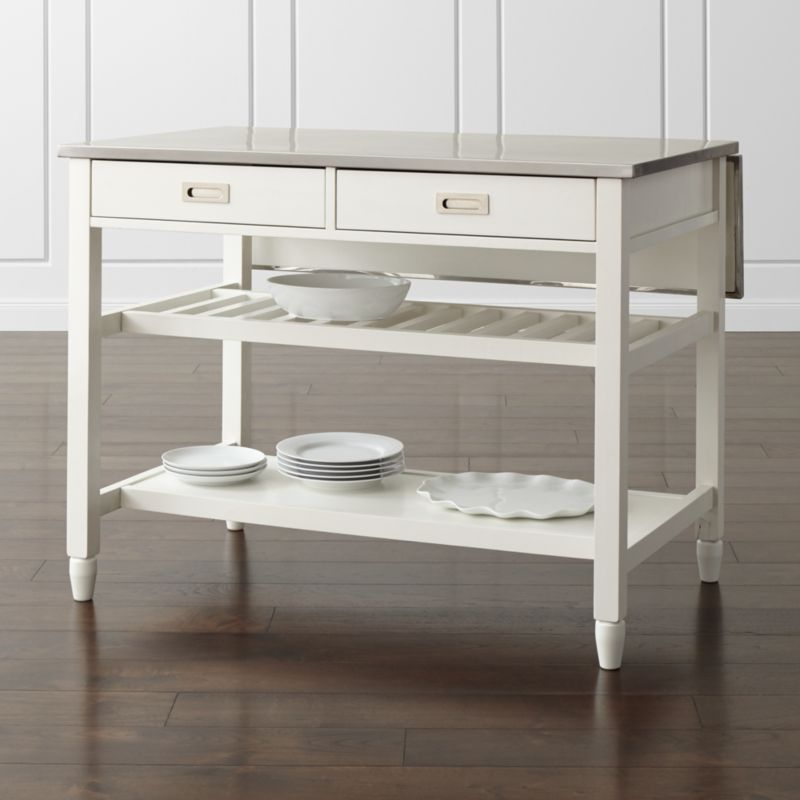 Sheridan White Kitchen Island Reviews Crate And Barrel - Crate and barrel kitchen island