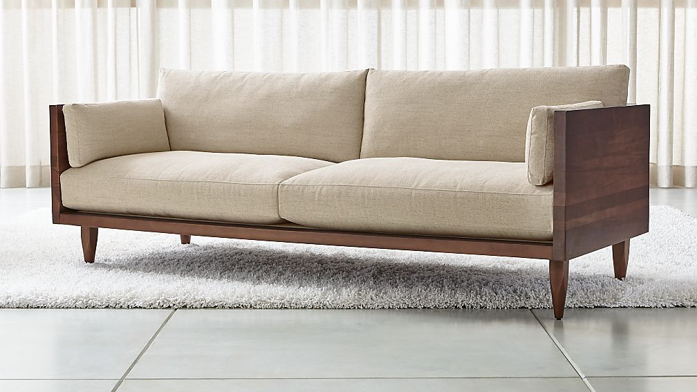 Sherwood 2-Seat Exposed Wood Frame Sofa - Image 1 of 10