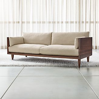 Sherwood 2 Seat Exposed Wood Frame Sofa