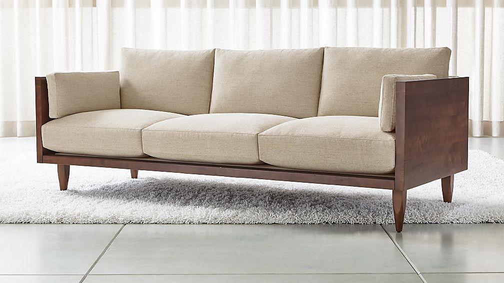 Sherwood 3 Seat Exposed Wood Frame Sofa Reviews Crate