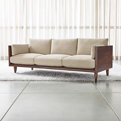 View testSherwood 3-Seat Exposed Wood Frame Sofa