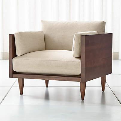 View testSherwood Exposed Wood Frame Chair