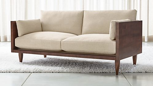 Sherwood Exposed Wood Frame Loveseat