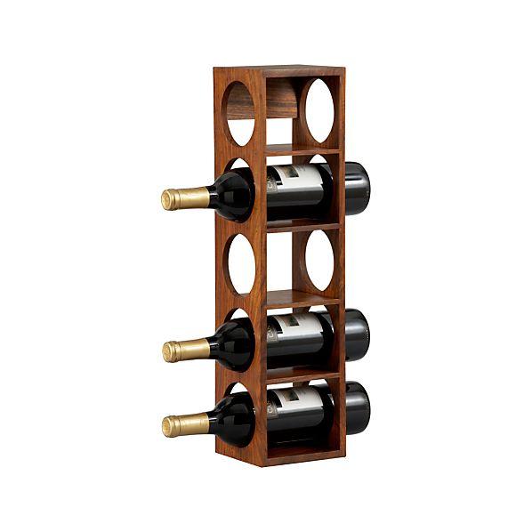 Shesham 5-Bottle Wall Mount-Stacking Wine Rack