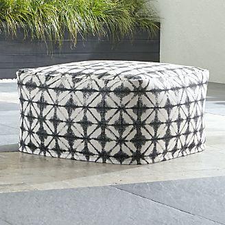 poufs crate and barrel. Black Bedroom Furniture Sets. Home Design Ideas