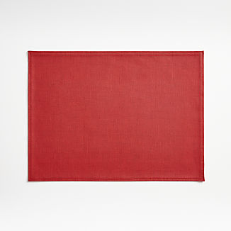 Shiloh Easy-Care Red Placemat