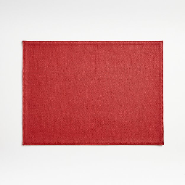 Shiloh Easy-Care Red Placemat - Image 1 of 4