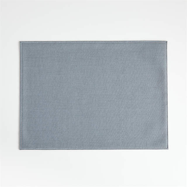 Shiloh Easy Care Slate Blue Placemat Reviews Crate And Barrel Canada