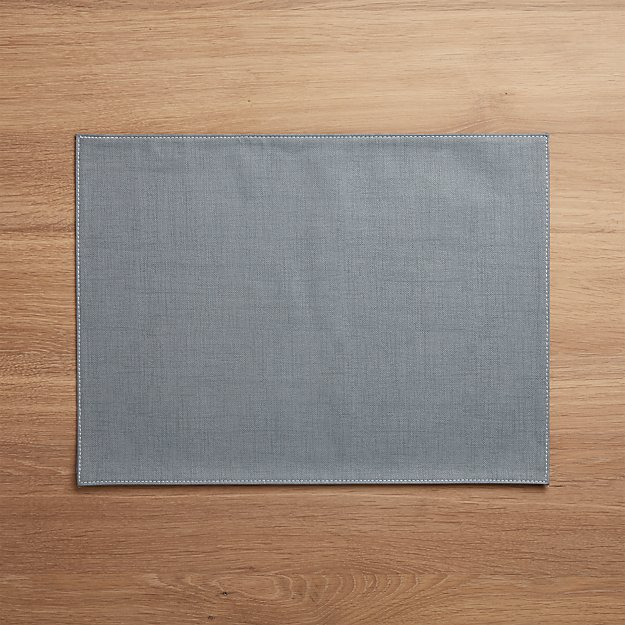 Shiloh Easy-Care Slate Blue Placemat - Image 1 of 2