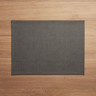 Shiloh Easy-Care Grey Placemat