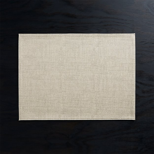 Shiloh Easy-Care Taupe Placemat - Image 1 of 3