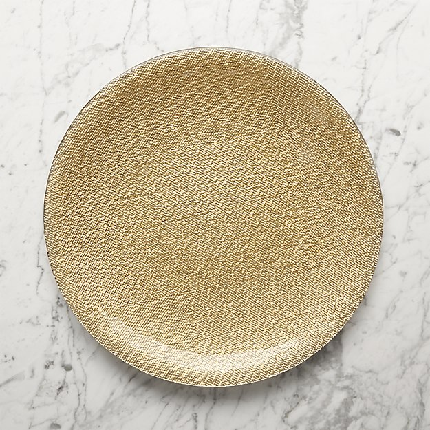 Shimmer Gold Charger Plate + Reviews | Crate and Barrel