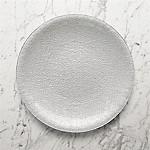 Shimmer Silver Glass Platter-Charger Plate