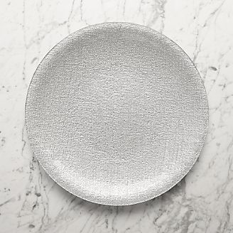 Shimmer Silver Gl Platter Charger Plate