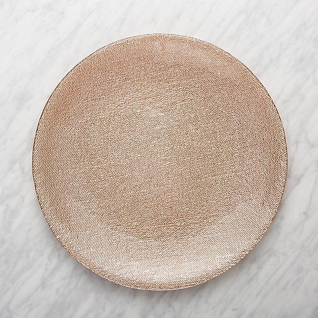 Famous Shimmer Rose Gold Charger Plate + Reviews | Crate and Barrel CJ83