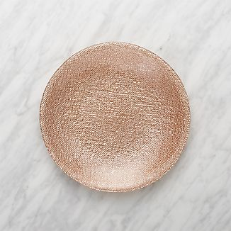 Shimmer Rose Gold Glass Salad Plate & Holiday and Christmas Dinnerware | Crate and Barrel