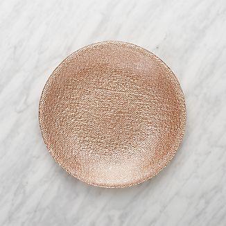 Shimmer Rose Gold Glass Salad Plate