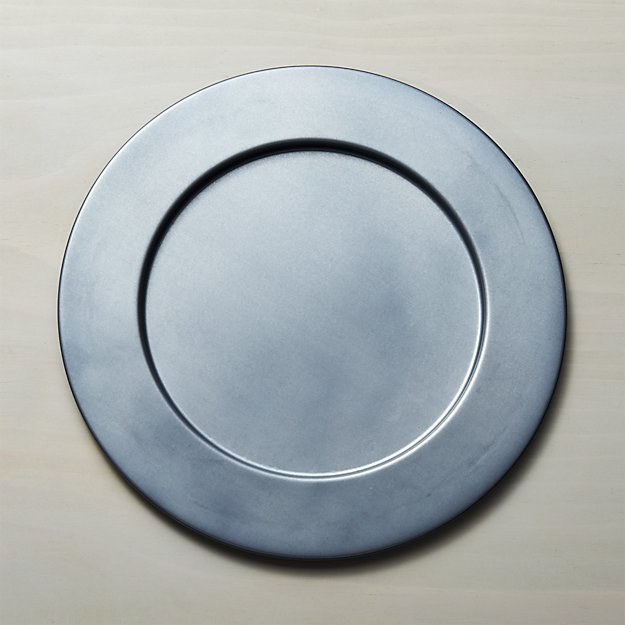 Perfect Galvanized Charger Plate + Reviews | Crate and Barrel DH37