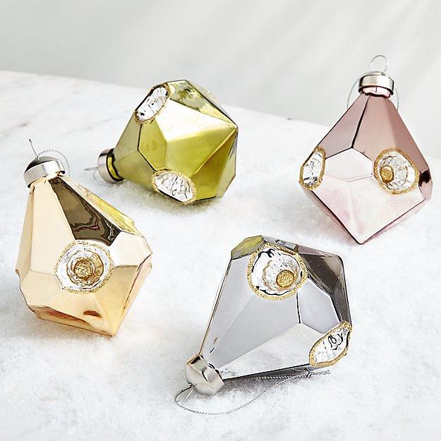 Shiny Diamond Christmas Ornaments - Image 1 of 1