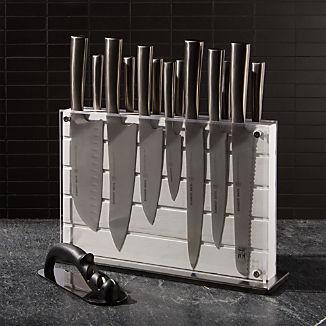 Schmidt Brothers ® White Shiplap 15-Piece Knife Block Set
