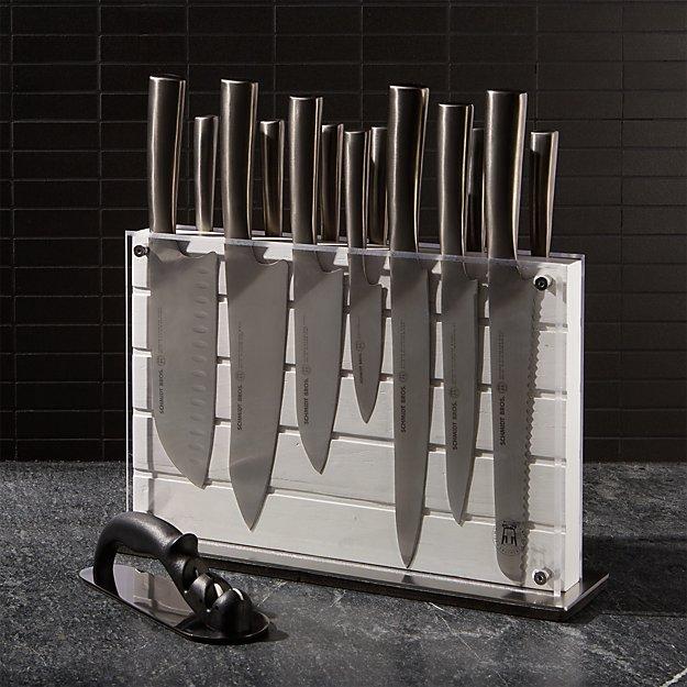 Schmidt Brothers ® White Shiplap 15-Piece Knife Block Set - Image 1 of 4