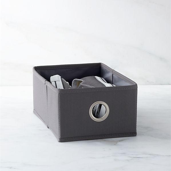 Grey Shoe Bag Drawer