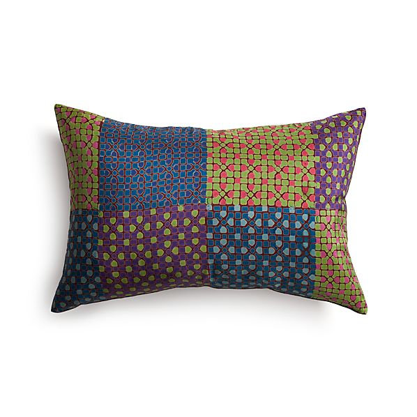 """Shoni 18""""x12"""" Pillow with Feather-Down Insert"""