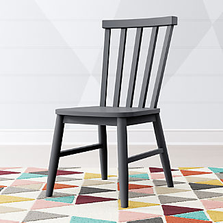 Kids Shore Charcoal Desk Chair