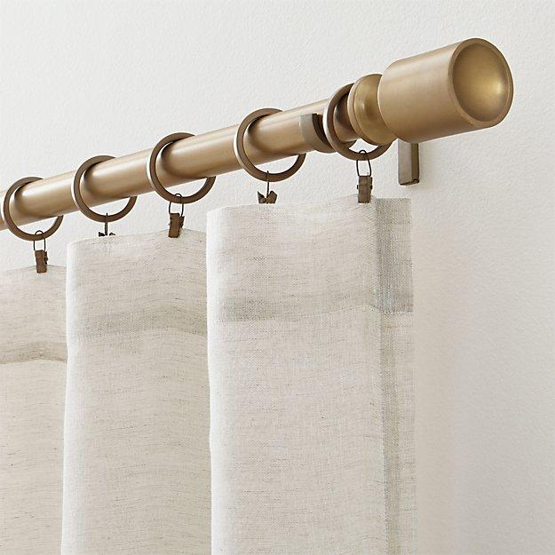 Barnes Antiqued Brass Curtain Hardware