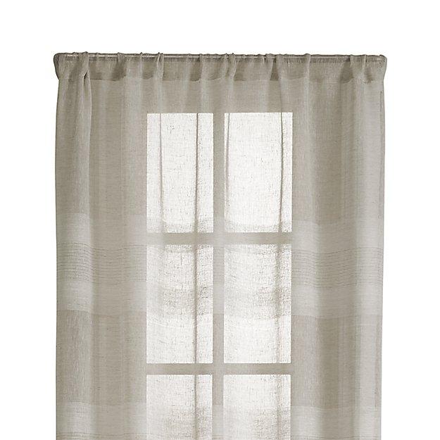 "Shorewood 50""x84"" Natural Linen Curtain Panel"