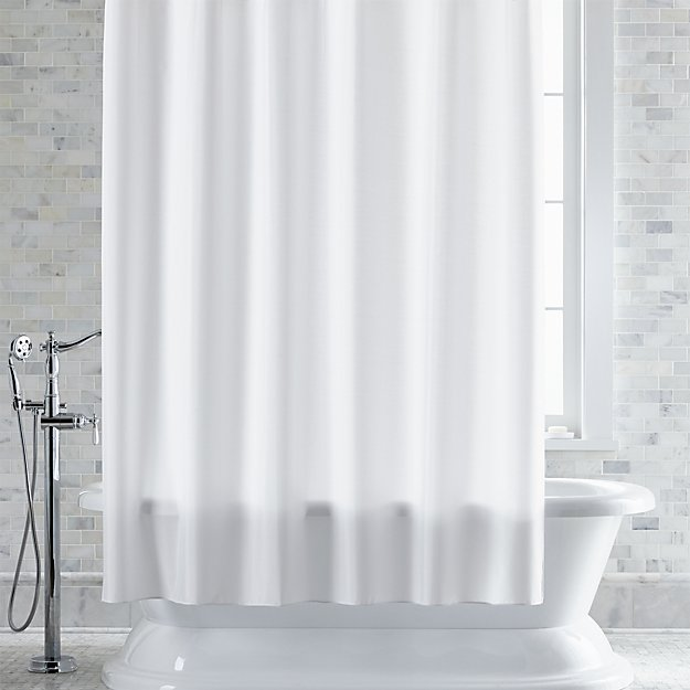 Shower Curtains crate and barrel shower curtains : White Shower Curtain-Liner | Crate and Barrel