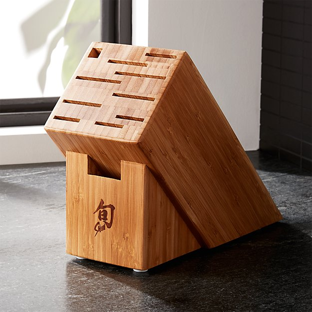Shun ® 11-Slot Bamboo Knife Block - Image 1 of 3