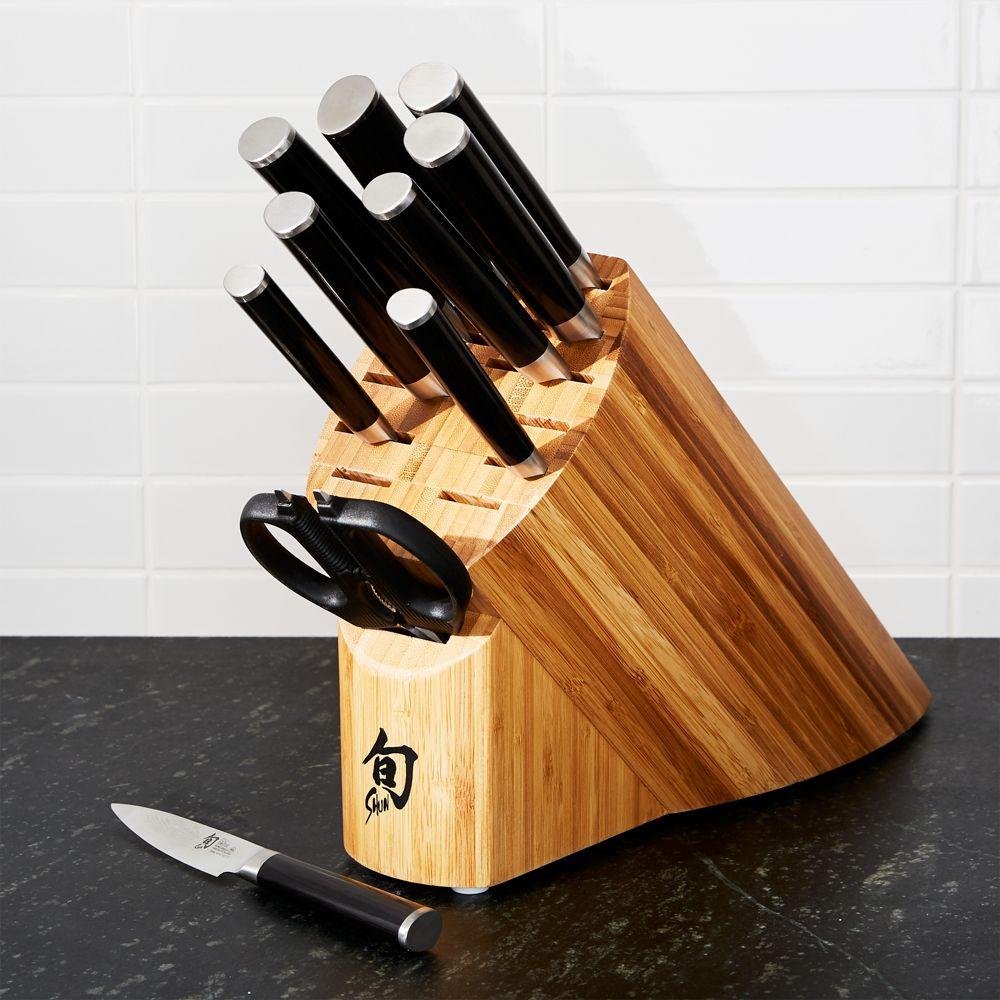 Shun ® Classic 11-Piece Knife Block Set - Crate and Barrel