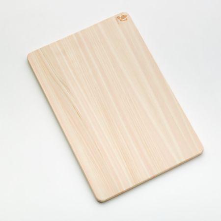 Shun Hinoki Cutting Board Medium | Crate and Barrel