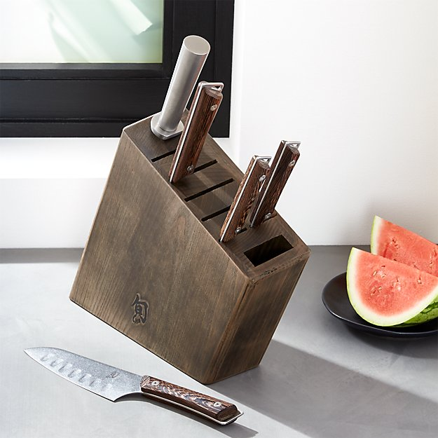 Shun Sora 6 Piece Knife Block Set C And Barrel