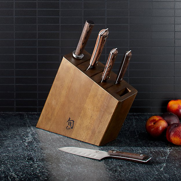 Shun ® Kanso 6-Piece Knife Block Set - Image 1 of 4