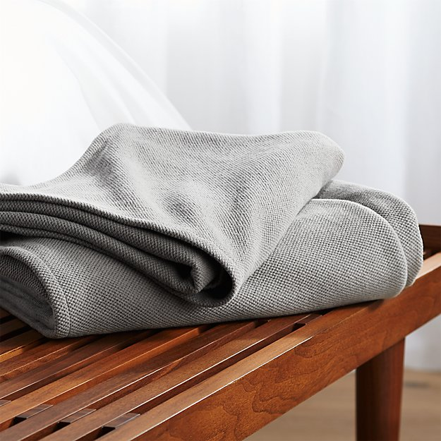 Siesta Dark Grey King Blanket