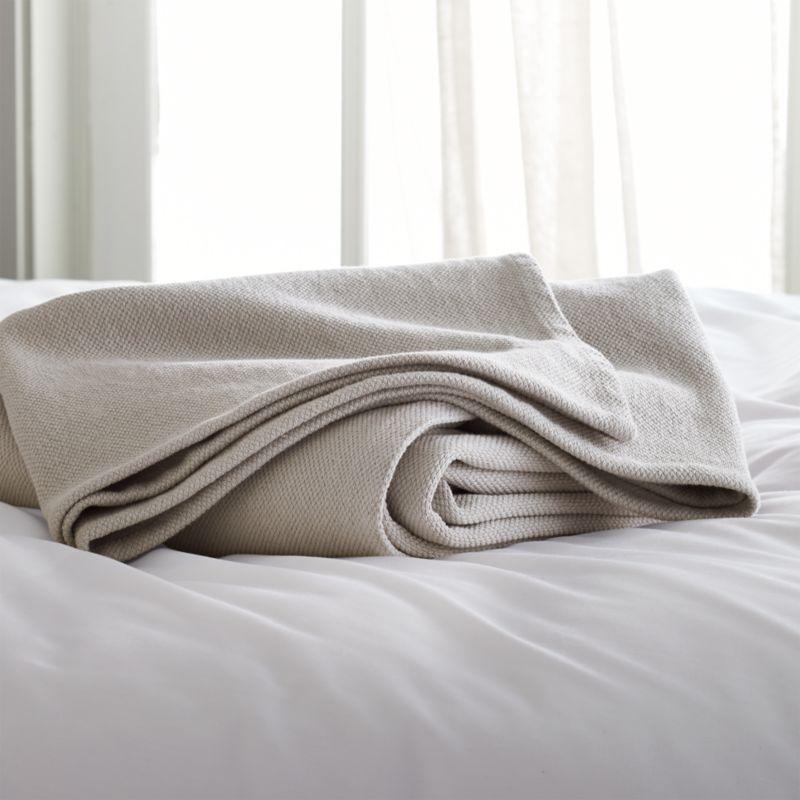 Siesta Grey FullQueen Blanket Crate and Barrel