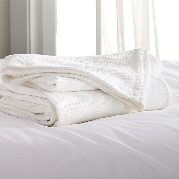 Siesta White King Blanket Reviews Crate And Barrel