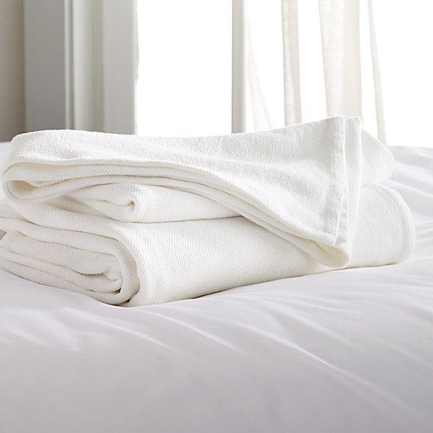Siesta White King Blanket - Image 1 of 2