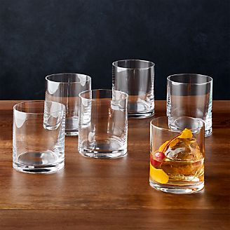 6c98a91388c Black and White Collection 16 oz. Double Old-Fashioned Glasses
