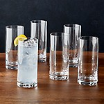 Black and White Collection 16 oz. Highball Glasses, Set of 6