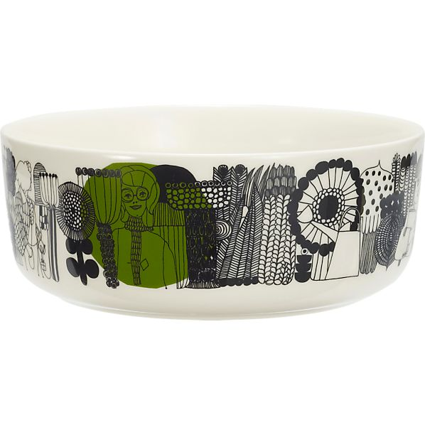 "Marimekko Siirtolapuutarha Black and White 8"" Bowl"