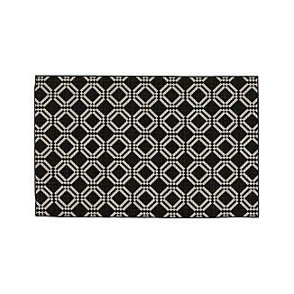 Silas Indoor/Outdoor Black Trellis Rug 5'x8'