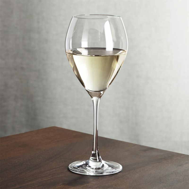 Generously sized glasses swell subtle tulip silhouettes on slender pulled stems in our elegant yet affordable collection. Created for us by Rona, the oldest existing Slovakian glass factory, founded in 1892.<br /><br /><NEWTAG/><ul><li>Glass</li><li>14 oz.</li><li>Fire-polished rim</li><li>Handwashing Recommended</li><li>Made in Slovakia</li></ul>