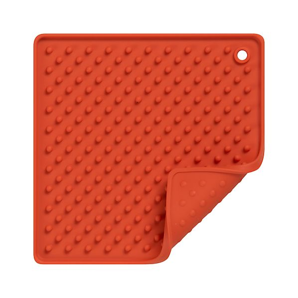 Silicone Orange Potholder-Trivet