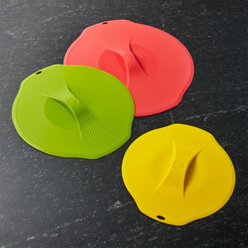 Silicone Lids Set Of Three Reviews Crate And Barrel