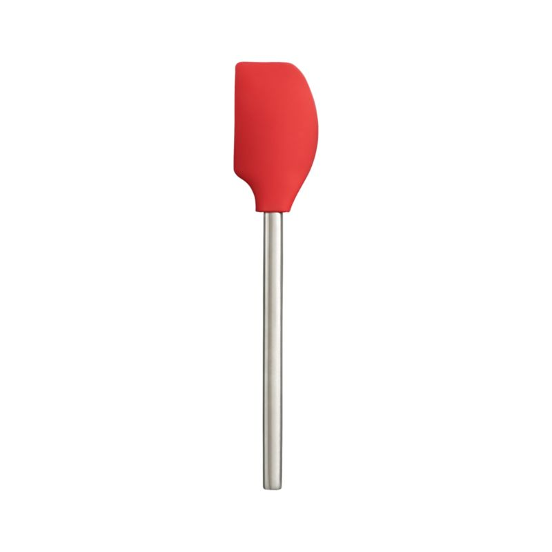 A sleek brushed stainless handle redefines the silicone spatula, today's durable, non-scratching, heat- and stain-resistant answer to old-school rubber, plastic and metal. Two-sided ergonomic head design provides maximum scraping access for different styles of pots and bowls.<br /><br /><NEWTAG/><ul><li>Silicone and nylon head</li><li>18/8 stainless steel handle</li><li>Heat-resistant to 600 degrees</li><li>Dishwasher-safe (no need to disassemble)</li><li>Made in China</li></ul>